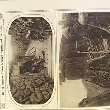 a1r ephemera 1916 ww1 picture belgian trenches between ypres and the sea