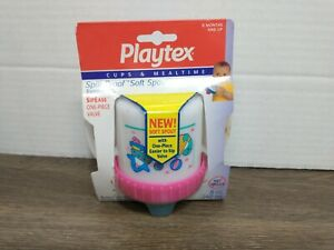 NEW Vintage Playtex Cups And Mealtime Spill Proof Training Cup 1997 8oz Pink