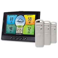 New ListingAcuRite Indoor & Outdoor Multi-Sensor Weather Station with 3 Temperature and Hum