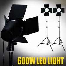 400 LED 3300lm Daylight Barndoor Lighting Professional Studio Light Stand Kit