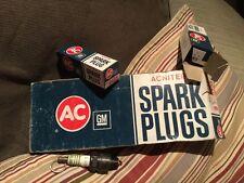 Acniter AC R45S Spark Plugs By GM General Motors Vintage NOS