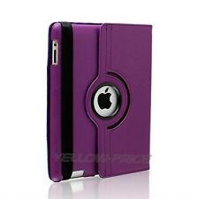 Apple iPad 2nd 3rd 4th Multi-Angle Stand Folio Case W/ Wake&Sleep Feature-Purple