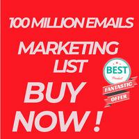 🔥100 MILLION Database Email Marketing List🔥(NEW ACTIVE) & Free SENDING METHODS