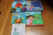 Blues Clue's Dinosaur Train Dora Pigeon lot of 5 children books