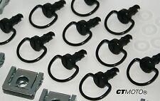 GENUINE D3 Machined Dzus fairing bolts (X10) BLACK ducati 748 916 996 998 HQ