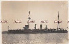"Royal Navy Real Photo Postcard. HMS ""Diamond""  protected cruiser. c 1905"