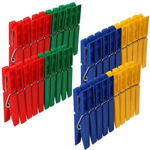 Wäscheklammern bunt aus Kunststoff Wäsche Clips Klammern robust 1-120 Stk.