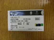 20/11/2012 Ticket: Juventus v Chelsea [Champions League] (small staple holes). T