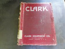 Clark Electric Clipper D Maintenance Manual and Parts Book Manual