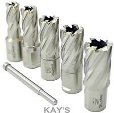Mag Drill Cutters 6 Pce In Case Rotabroach Jancy Unibor Magnetic Drilling Jeics