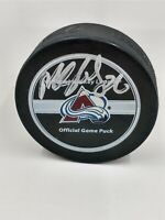 Colorado Avalanche Hockey Game Puck NHL Logo Autographed Unknown
