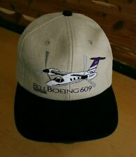 BELL BOEING 609 Ball Cap - Embroidered Plane Airplane Pilot Adjustable Hat - NEW