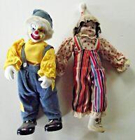 Ceramic Face Clown Doll Set of 2