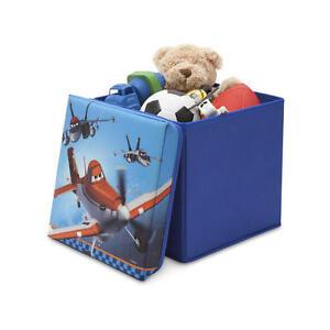 Disney Planes Storage Box Kids Seat Stool Lid Folding
