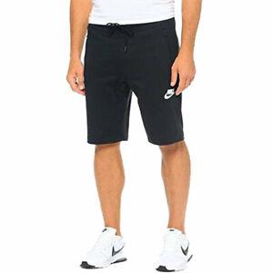 NIKE 803672 Mens Shorts Stretch Cotton Casual Gym Fleece Sports Black Sleepwear