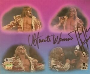 Hulk Hogan Ultimate Warrior Autographed Signed WCW NWO WWF WWE Photo Beckett