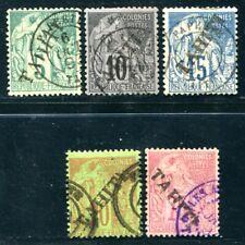 OCEANIE 1893 Yvert 10-13,17 gestempelt + SCHÖNE STEMPEL 350€(S5535