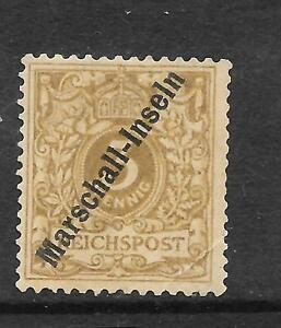 MARSHALL ISLANDS GERMAN 1897-99  3pf  OLIVE BROWN  MLH    Sc 1a