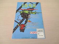 >> 1942 CAPCOM SHOOT ARCADE PCB BOARD RARE ORIGINAL JAPAN SEAL INSTRUCTIONS! <<