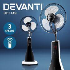 Devanti Portable Misting Fan Pedestal Fan Remote Water Cool Mist Panel 40cm WH