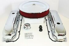 BB Chrysler Chrome Engine Dress Up Kit Valve Covers Red Washable Air Cleaner 440