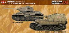Takara WWII world tank museum vs edition Elephant(SS.653 Pzbt.)vs T34/85(Russia)