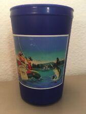 Vintage Joe Camel Cigarette Fishing Bass Thermos Insulated Drinking Plastic Mug