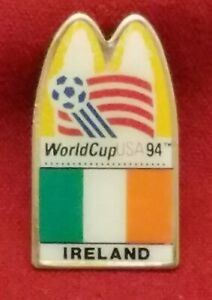 1994 MCDONALDS WORLD CUP USA IRELAND FLAG SOCCER PIN