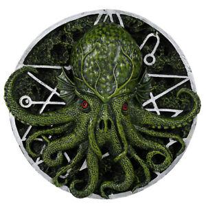 Cthulhu Wall Art Lovecraft Giant Squid Horror Creature Ocean Aquatic Plaque Gift