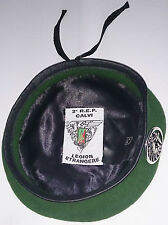 Béret Vert avec insigne TAP PARA 2°REP LÉGION ÉTRANGÈRE Taille # Size S / TT 54