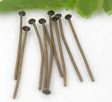 400Pcs Bronze Plated (Lead-Free)Head Pins & Needles Findings 18mm