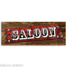 56cm Wild West Western Party SALOON Bar PVC Plastic Sign Banner Decoration