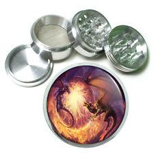 "2.5"" 4PC Aluminum Sifter Magnetic Herb Grinder Dragon Design-009 Custom"