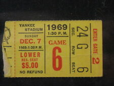1969 Cardinals at NY Giants Ticket Stub Giants 49 Cardinals 6