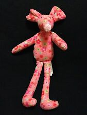 """Jellycat Cordy Mouse Pink Flower Small Jelly Cat London UK Plush Roses 2010 7"""""""