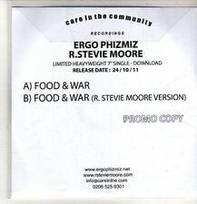 (CO340) Ergo Phizmaz/R Stevie Moore, Food & War - 2011 DJ CD