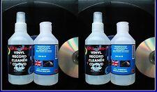 VINYL RECORD CLEANER CD DVD CDRW BLUERAY FLUID SOLUTION