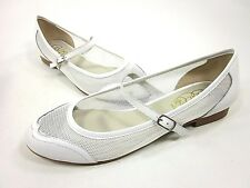 CANDELA N.Y.C, PERFO BALLERINA FLAT, WOMENS, BONE, US SIZE 6.5 M, NEW WITH BOX