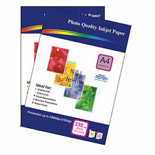 100 Sheets 230gsm A4 Matt Photo Paper Single-Sided Printable for inkjet Printers