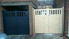 cottage style wooden timber driveway entrance gates 6'0''x8'0''(any size)style2