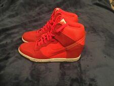 Nike Women's Dunk Sky Hi Mesh Shoes Wedge Mango Sail 579763-800 Size 9