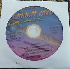 VERY BEST KARAOKE HITS DVD DISC - MP3+G, 140 SONGS, COUNTRY,ROCK,POP **SALE**