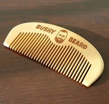 BUSHY BEARD - Moustache Wooden Hair Comb Mens Grooming Birthday Gift Present Him