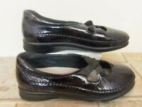 SAS Women Shoes Chrissy Mary Jane Black Leather 7.5 M Wore Once