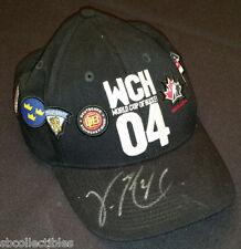 """2004 - CANADA CUP - TOURNAMENT CAP - AUTOGRAPH BY - """"MVP"""" - VINCENT LECAVALIER"""