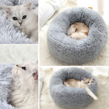 Winter Dog Cat Calming Bed Comfy Shag Warm Fluffy Bed Nest Donut Mattress Pad