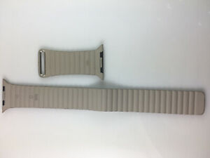 Original Genuine OEM Apple Watch Natural Leather Loop Band 42MM 44mm Large Stone