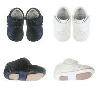 NEW Baby Boys Toddler Infant Leather Shoes Soft Sole Prewalker Black White SZ0-4