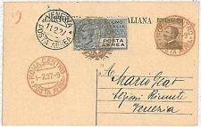 ITALIA storia postale INTERO - PRIMI VOLI - cat  LONGHI 1688 :  ROMA /  VENEZIA