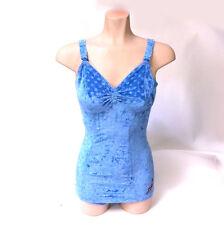 Vintage Women's Pinup 1940's Jantzen Light Blue Velvet Bathing Swimsuit Size 36